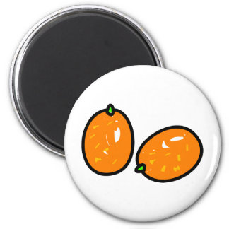 Kumquat 2 Inch Round Magnet