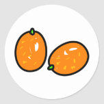 Kumquat Pegatina Redonda