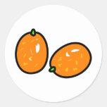 Kumquat Round Sticker