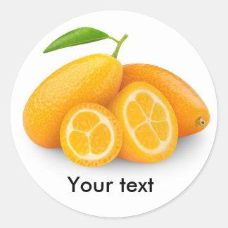 Kumquats Pegatina Redonda