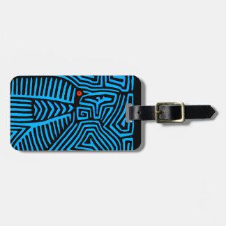 Kuna Indian Blue Bird Bag Tag
