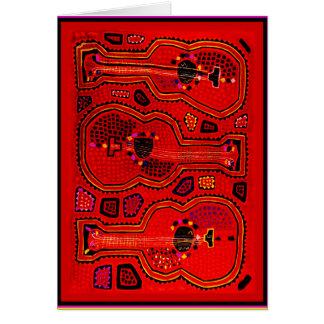Kuna Indian Guitars Card