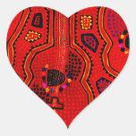 Kuna Indian Guitars Heart Sticker