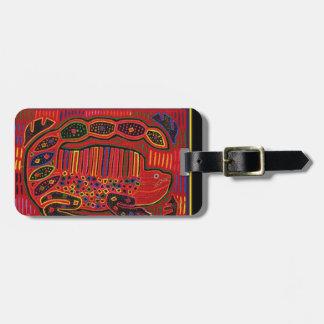 Kuna Indian Iguana Mola Bag Tag