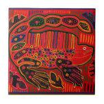 Kuna Indian Iguana Mola Ceramic Tile