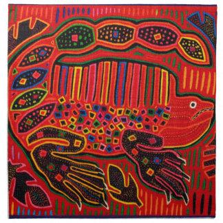 Kuna Indian Iguana Mola Napkin