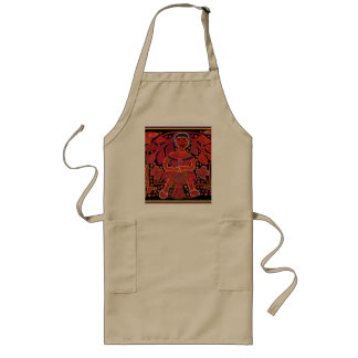 Kuna Indian in Cooking Hut - Tribal Long Apron
