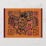 Kuna Indian Mola Bat Postcard