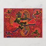Kuna Indian Stork Bringing Baby Design Postcard