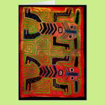 Kuna Indian Twin Spirits Card
