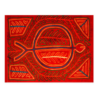 Kuna Mola Stingray Postcard