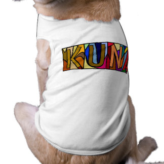 KUNA ~ PERSONALIZED BIG LETTER PET-WARE FOR DOGS! TEE
