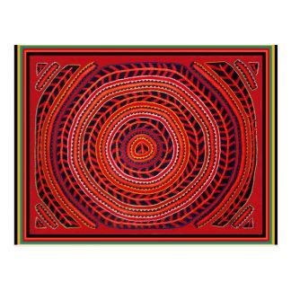 Kuna Tribal Universal Sun Postcard