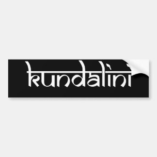 Kundalini Design on Sanskrit Style Bumper Sticker