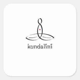 Kundalini - estilo de lujo negro pegatina cuadrada