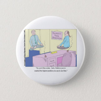 Kundalini Inc. Yoga Cartoon Gifts & Collectibles Button