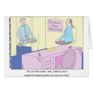 Kundalini Inc. Yoga Cartoon Gifts & Collectibles Greeting Cards