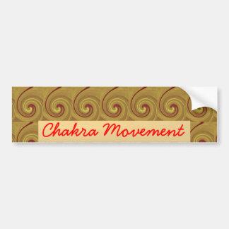 Kundalini que despierta el movimiento de Chakra Etiqueta De Parachoque