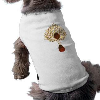 Kundan y broche de rubíes playera sin mangas para perro