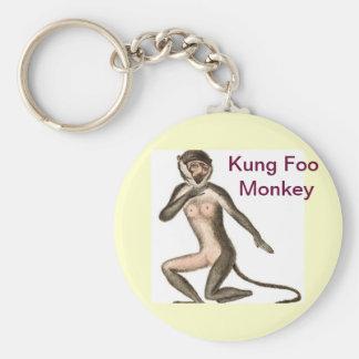 Kung Foo Monkey Keychain