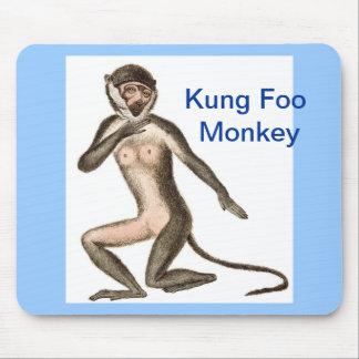Kung Foo Monkey Mouse Pad