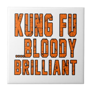 Kung Fu Bloody brilliant Small Square Tile