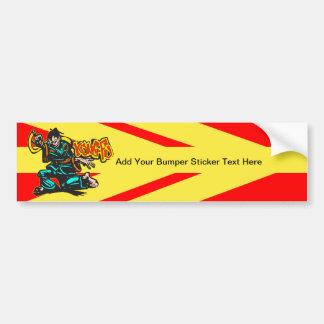 Kung Fu Car Bumper Sticker