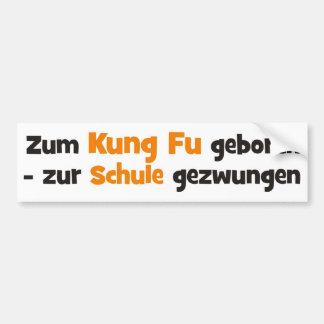Kung Fu Bumper Sticker