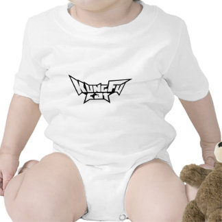 Kung Fu Cat B/W Collection Baby Bodysuit