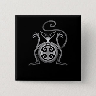 Kung Fu Cat Button