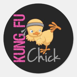 Kung Fu Chick Classic Round Sticker