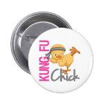Kung Fu Chick Pinback Button