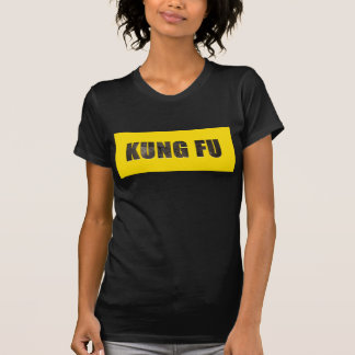 Kung Fu Chiseled Text T-Shirt