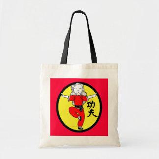 Kung Fu Crane Stance Girl Canvas Bag