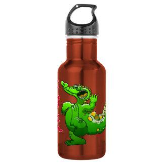 Kung Fu Crocodile 18oz Water Bottle