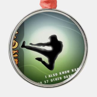 Kung-Fu divertido Ornamentos De Navidad