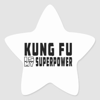 Kung Fu es mi superpotencia Calcomanía Cuadrada Personalizada