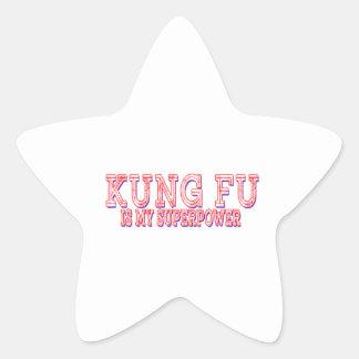 Kung Fu es mi superpotencia Calcomanía Forma De Estrella Personalizadas