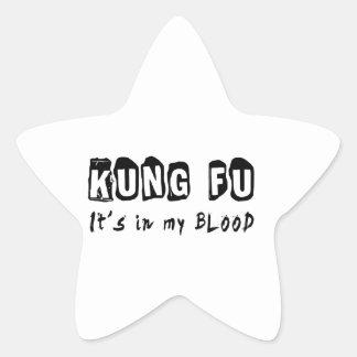 Kung Fu está en mi sangre Calcomanías Forma De Estrellaes