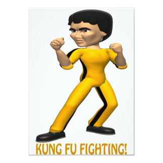 Kung Fu Fighting 5x7 Paper Invitation Card