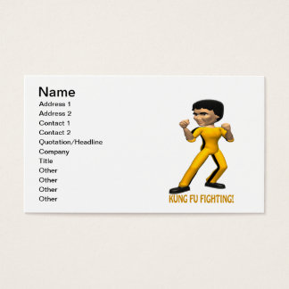 Kung Fu Fighting Business Card
