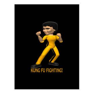 Kung Fu Fighting Postcard