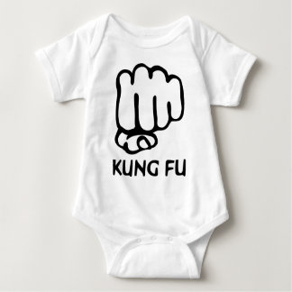 kung fu fist icon baby bodysuit