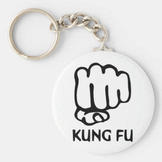 kung fu fist icon basic round button keychain