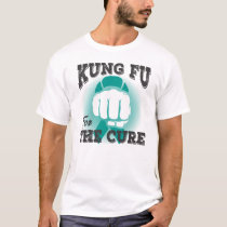 Kung Fu For The Cure Ovarian Cancer Shirt