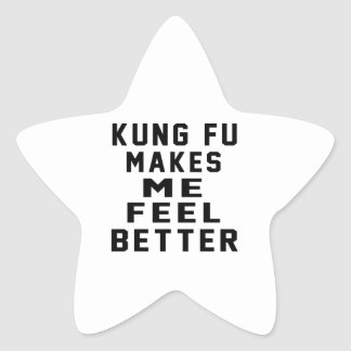 Kung Fu hace que siente mejor Colcomanias Forma De Estrellas