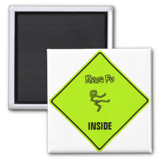 Kung Fu INSIDE 2 Inch Square Magnet