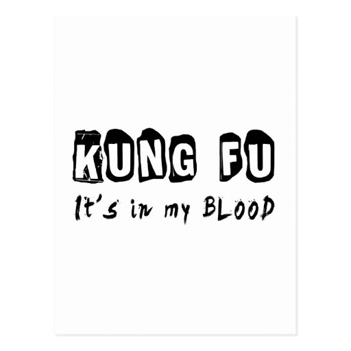 Kung Fu It's in my blood Postcards