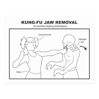 Kung-Fu Jaw Removal Postcard