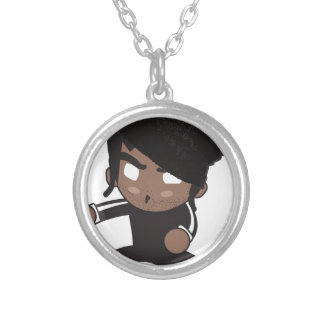Kung Fu Kenny Silver Plated Necklace